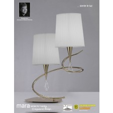 Mara Table Lamp 2 Light French Gold/Cream