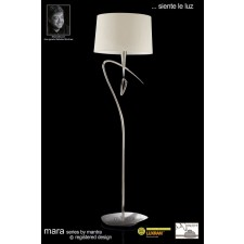 Mara Floor Lamp 1 Light Polished Chrome/Cream