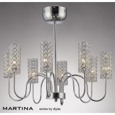 Diyas Martina 8 Light Pendant Chrome/Crystal