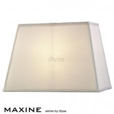 Diyas Maxine Rectangular Shade 1 Light White