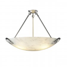 Savoy White Marble Ceiling Light