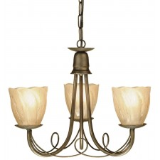 Elstead MN3 BLK/GOLD Minster 3 - Light Chandelier Black/Gold