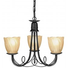 Elstead MN3 BLACK Minster 3 - Light Chandelier Black