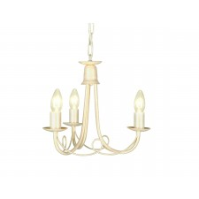 Elstead MN3 IV/GOLD Minster 3 - Light Chandelier Ivory Gold