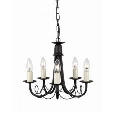 Elstead MN5 BLK/GOLD Minster 5 - Light Chandelier Black/Gold