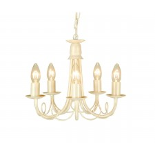 Elstead MN5 IV/GOLD Minster 5 - Light Chandelier Ivory Gold