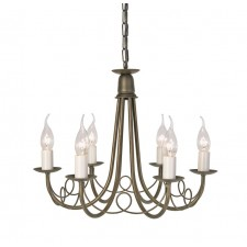 Elstead MN6 IV/GOLD Minster 6 - Light Chandelier Ivory Gold