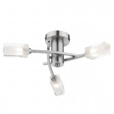 Morgan 3 Light Semi Flush Satin Chrome