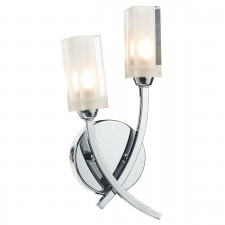 Morgan Double Wall Light Polished Chrome