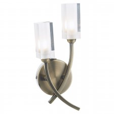 Morgan Double Wall Light Antique Brass