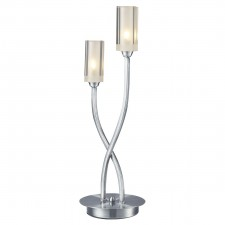 Morgan 2 Light Table Lamp Satin Chrome