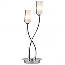 Morgan 2 Light Table Lamp Chrome
