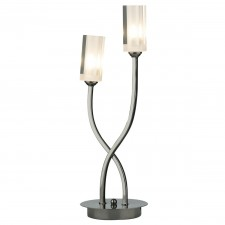Morgan 2 Light Table Lamp Black Chrome