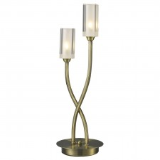Morgan 2 Light Table Lamp Antique Brass