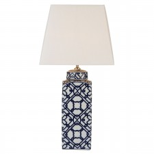 Mystic Table Lamp Blue/ White Base Only