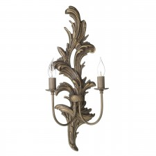 Napoleon 2 light Large Wall Light - Burnt Gold