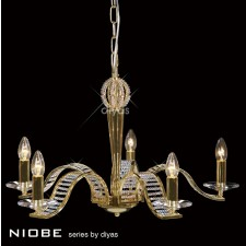Diyas Niobe Pendant 5 Light Gold Plate