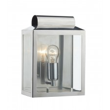 Notary IP44 Rectangle Wall Light - Stainless Steel