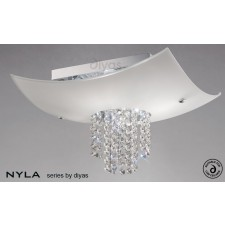 Diyas Nyla Ceiling 4 Light Polished Chrome/Crystal