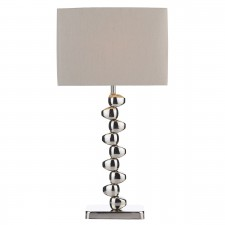 Offset Table Lamp Polished Chrome complete with Shade
