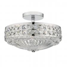 Olona 3 Light Semi Flush Polished Chrome And Clear Crystal