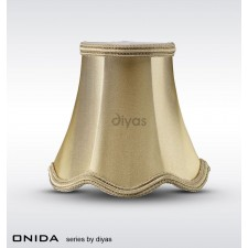 Diyas Onida Fabric Shade Gold 130mm
