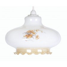 Oaks Lighting OP/12/Q Cream Flower Pendant Glass