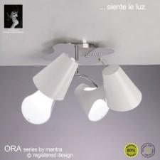Ora Ceiling 4 Light Polished Chrome/White