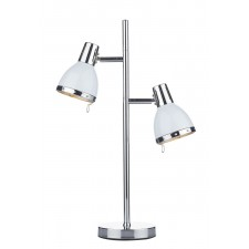 Osaka 2 Light Table Lamp Polished Chrome/ White