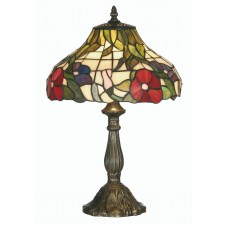 Peonies Tiffany Table Lamp - Medium