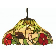 Peonies Tiffany Ceiling Light - Pendant