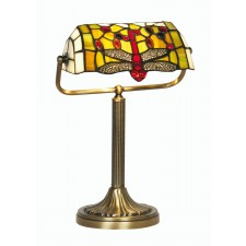 Oaks Lighting OT 1485/BL TL Dragon Fly Bankers Lamp