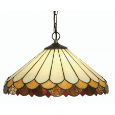 Lysander Tiffany Ceiling Light - Large Pendant
