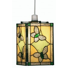 Butterfly Tiffany Non Electrical Pendant - Green