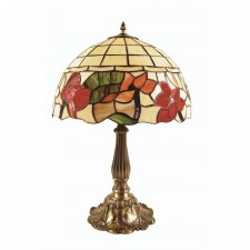 Oaks Lighting OT 4382/16 TL Border Tiffany Table Lamp