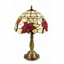 Oaks Lighting OT 4382/8 TL Border Tiffany Table Lamp