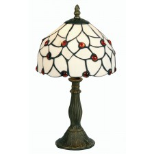 Tiffany Table Lamp - Amber Beads 8""