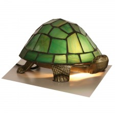 Tortoise Tiffany Lamp - Green