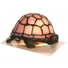 Tortoise Tiffany Lamp - Pink