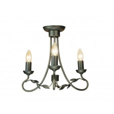 Elstead OV3 BLK/GOLD Olivia 3 - Light Chandelier Black/Gold
