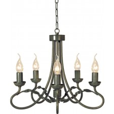 Elstead OV5 BLK/GOLD Olivia 5 - Light Chandelier Black/Gold