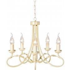 Elstead OV5 IVORY/GOLD Olivia 5 - Light Chandelier Ivory/Gold