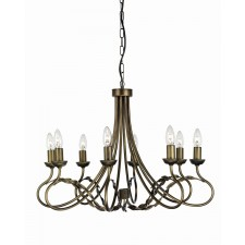 Elstead OV8 BLK/GOLD Olivia 8 - Light Chandelier Black/Gold