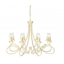 Elstead OV8 IVORY/GOLD Olivia 8 - Light Chandelier Ivory/Gold