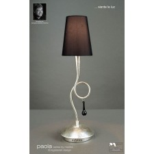 Paola Table Lamp 1 Light Silver Leaf