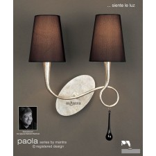 Paola Switched Wall Lamp 2 Light Silver Leaf