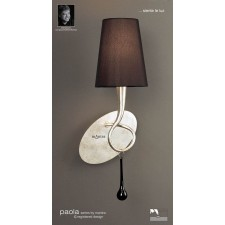 Paola Switched Wall Lamp 1 Light Silver Leaf