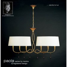 Paola Pendant 6 Light Gold Leaf