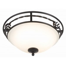Elstead PB/F/A BLACK Pembroke Flush Light A Black