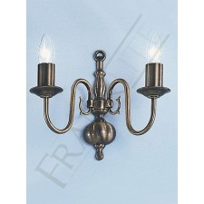 Franklite Halle Double Wall Light - Bronzed Brass